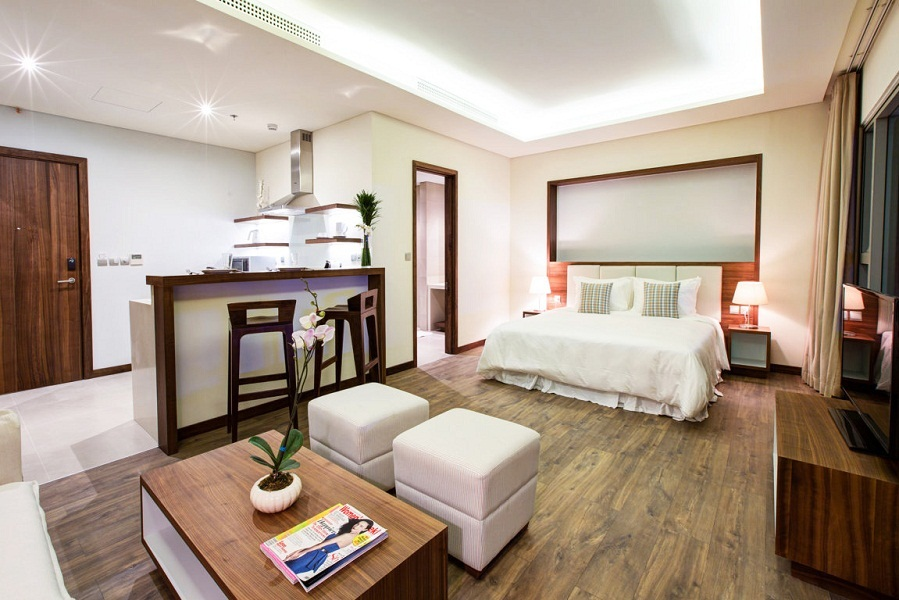 The rooms come in different sizes for different price ranges.