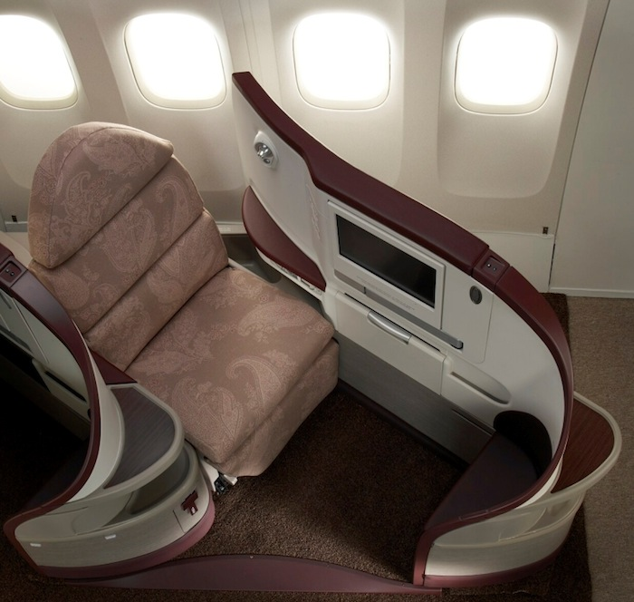 Seating in Jet Airway's Business Class.