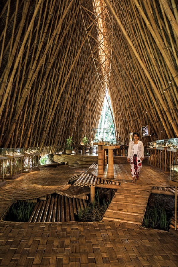The showroom on the John Hardy compound is made almost entirely of bamboo.