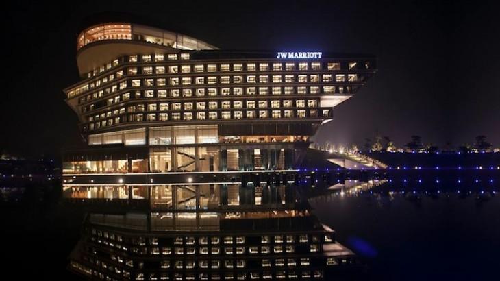 The facade of the JW Marriott Hotel Hanoi.