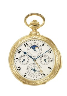 James Ward Packard's Astronomical Pocket Watch, one of the vintage pieces on display.