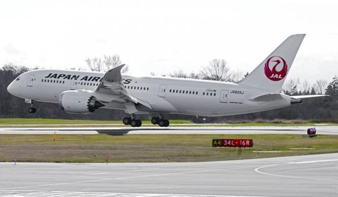 JAL's Boeing 787 Dreamliner.