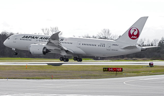 A Japan Airlines 787 Dreamliner.