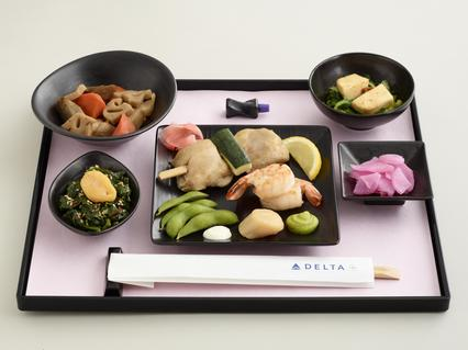 Delta's in-flight menus will receive an update after the competition.