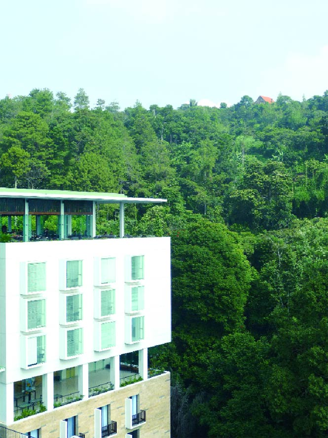 Bandung's Padma Hotel is set in a serene ravine.