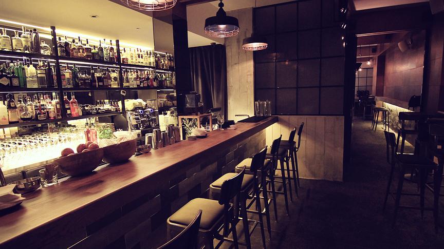The bar at Jekyll & Hyde.