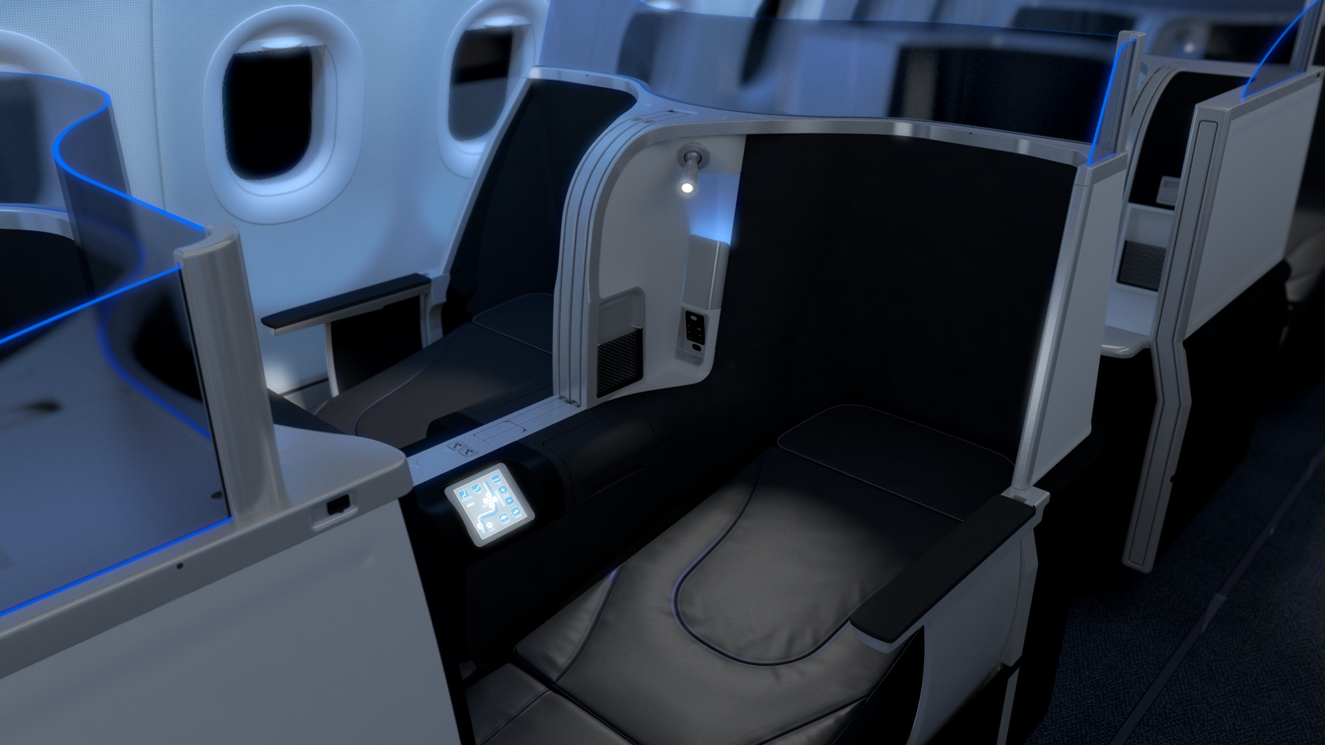 JetBlue's lie-flat seat.