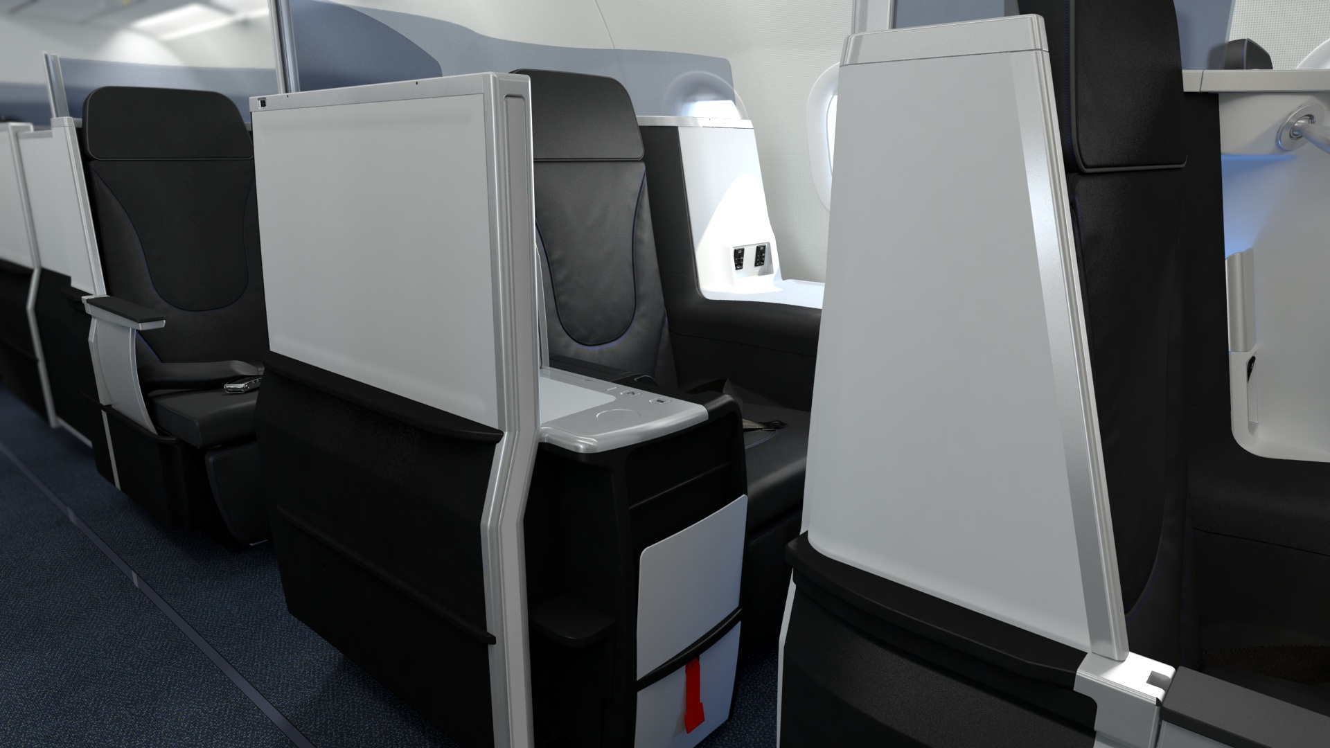 The seats were designed by Northern Ireland-based Thompson Aero Seating.