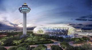 A rendering of the exterior of Jewel Changi which will be opened in 2019.