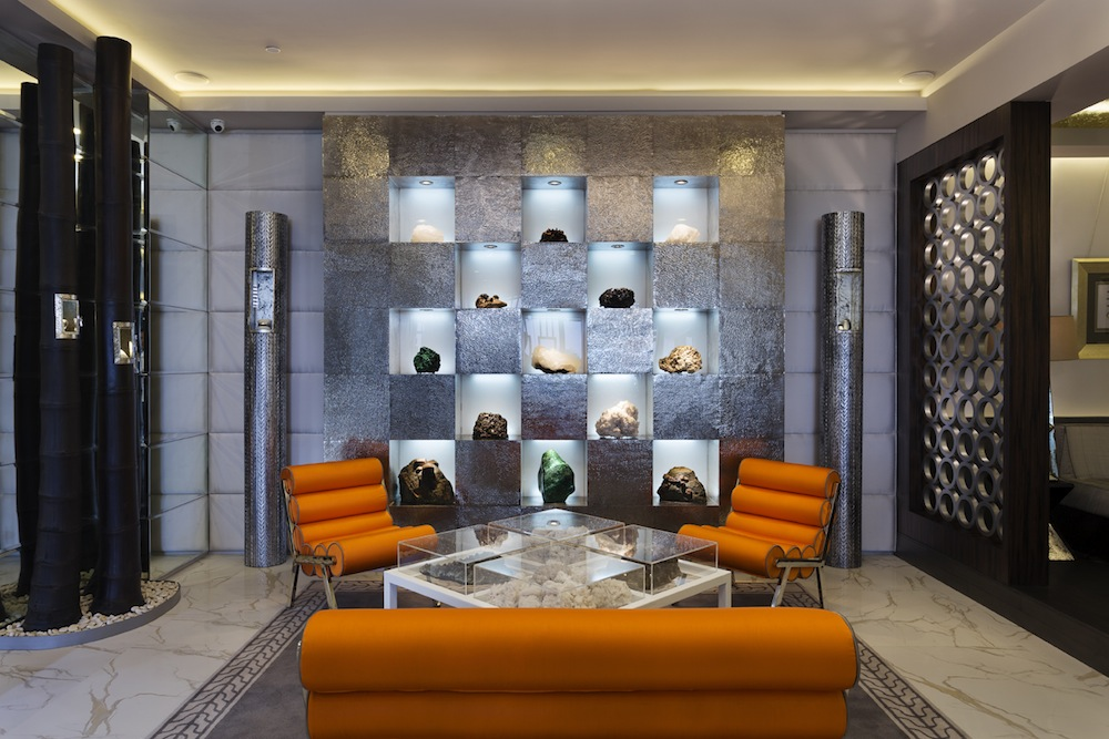 The interior of the new John Hardy boutique at the Mulia Resort in Bali.