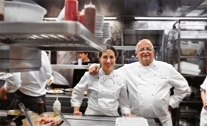Father-and-daughter team Juan Mari and Elana Arzak, in the kitchen of the family's restaurant