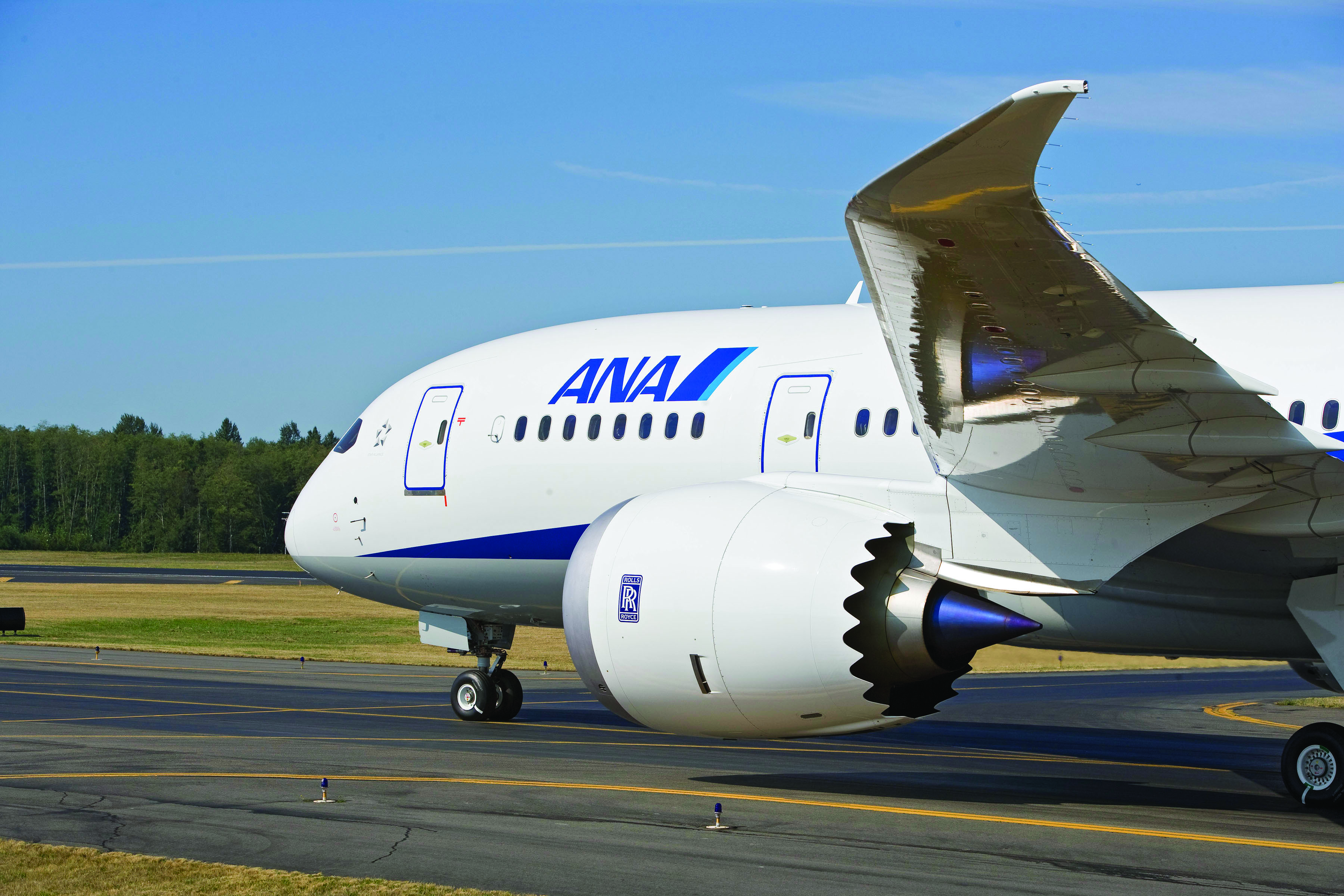 All Nippon Airways is the world's first carrier to take delivery of the Boeing 787 Dreamliner, shown above on the tarmac in Tokyo,