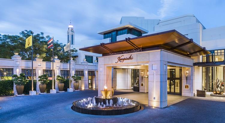 The entrance of Siam Kempinski Hotel Bangkok.