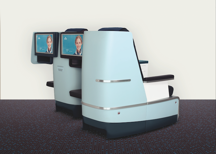 KLM's new seating features personal power plugs and 17-inch screens.