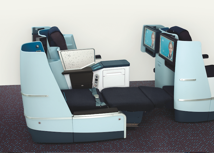 New lie-flat seats convert to fully flat seat beds.