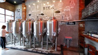 Stainless steel vats and craft brews galore at BeerHouse Kapitolyo Brewing Co.