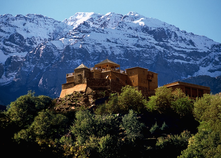 Kasbah du Toubkal, the accommodation while exploring the peaks of Toubkal National Park.