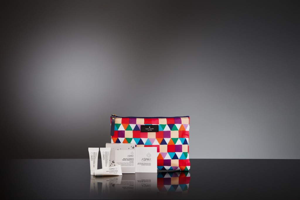The pouches will house Australian products Aspar by Aurora Spa.