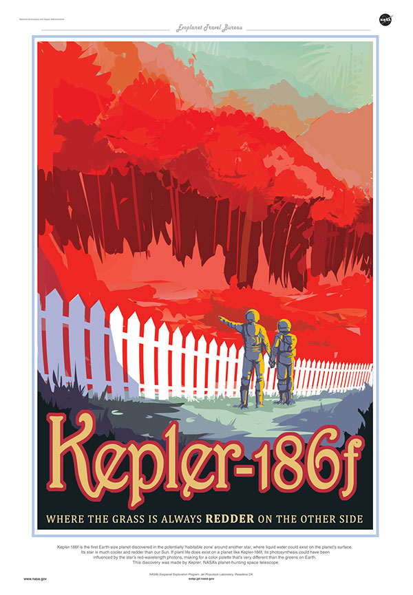 Don't pack your bags quite yet; Kepler-186f is 490 light years from Earth.
