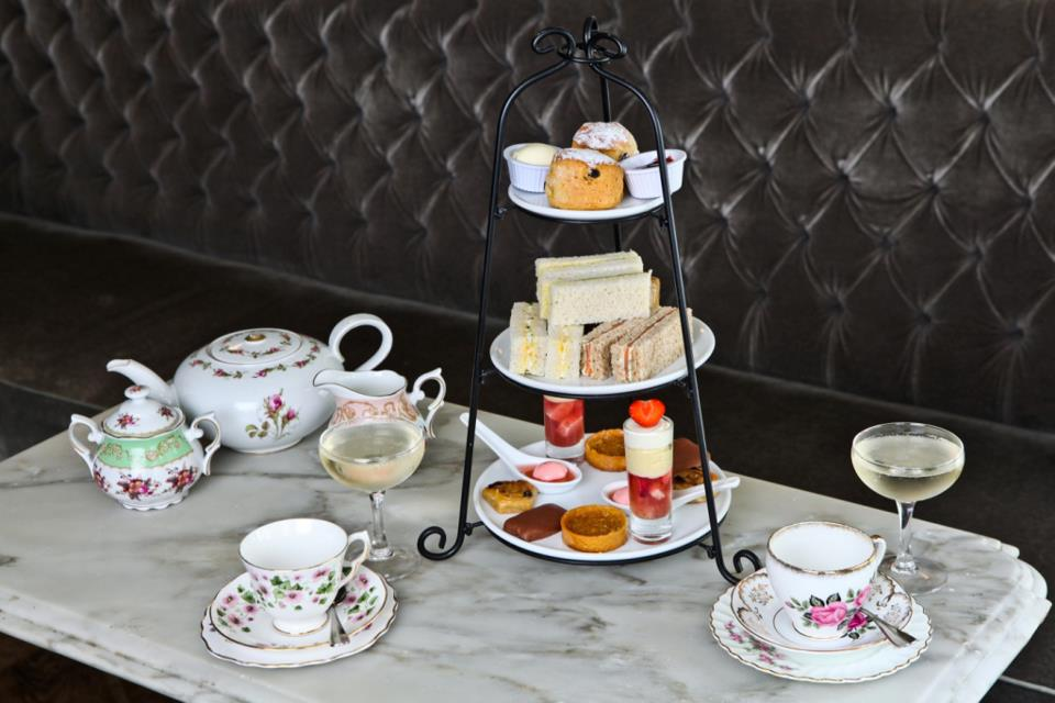 Afternoon tea is served at Kettner's.