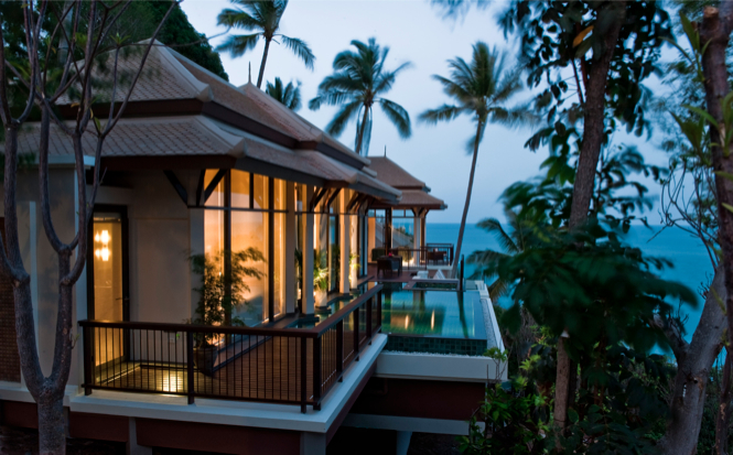 Koh Samui resorts Banyan Tree Samui hillcrest pool villa exterior