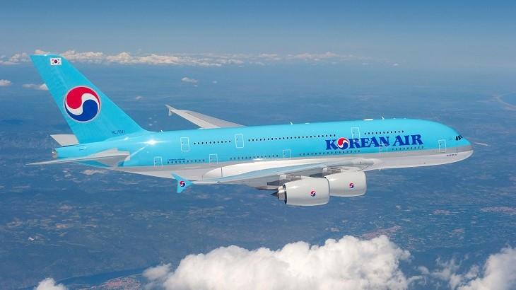 Korean Air's first Airbus A380 aircraft.