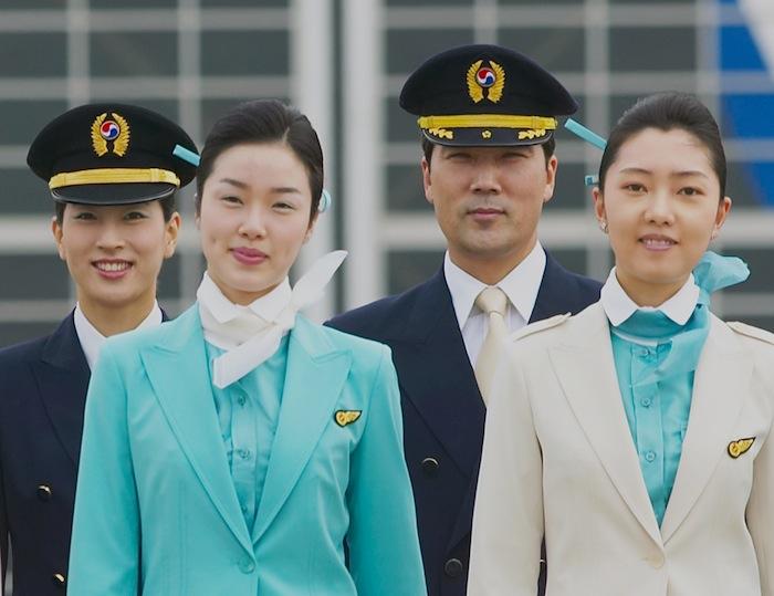 Korean Air's pilots and cabin crew.