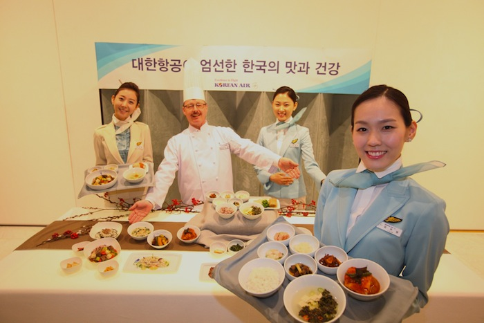 Korean Air spent one year developing the new menu.