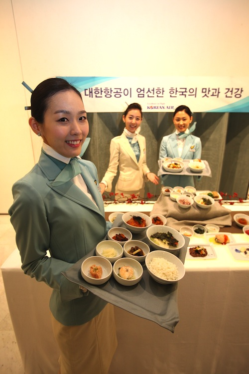 Korean Air's new 'table d'hôte' selection.