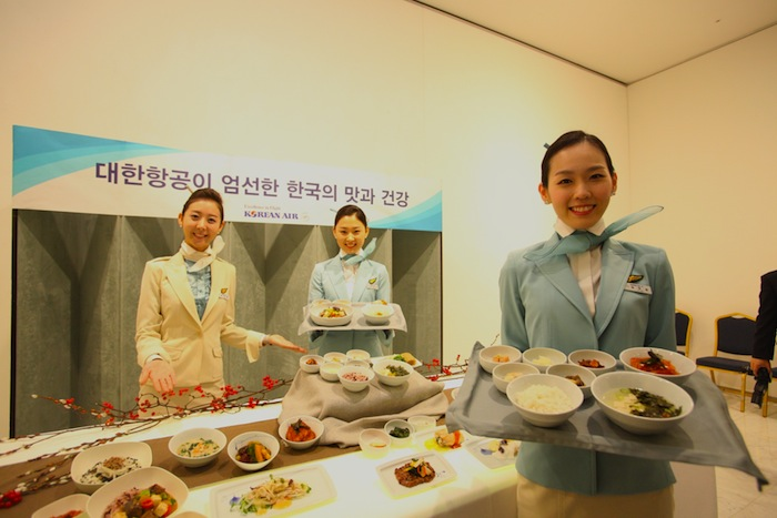 Korean Air's new 'table d'hôte' dishes.