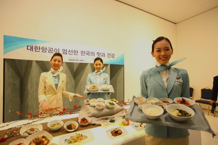 Korean Air's new 'table d'hôte' dishes.