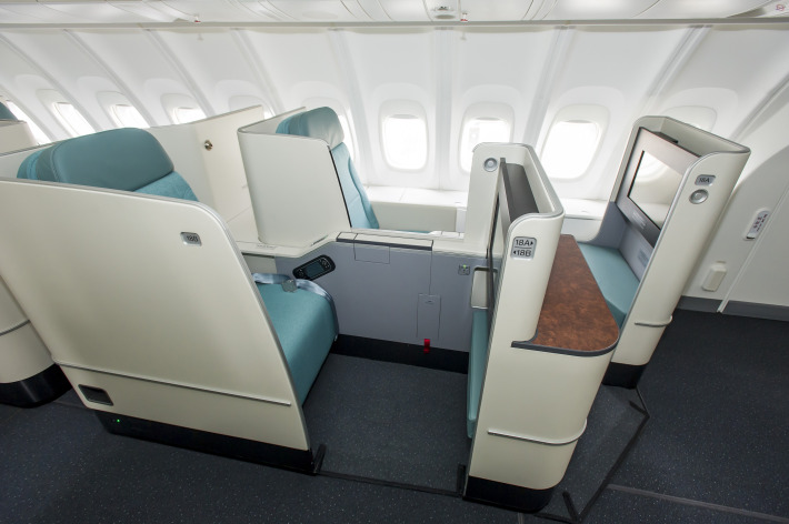 The new Prestige Class suites are spacious and feature new touchpad-controlled, 18-inch entertainment systems.