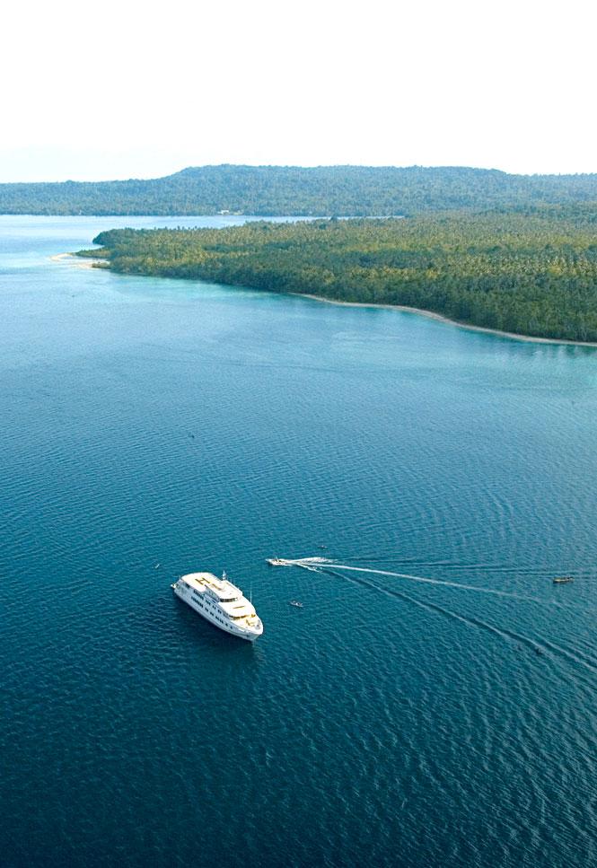 The True North on its voyage through the Solomon Sea.