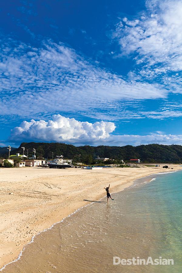 Okinawa's kilometer-long Okuma Beach.