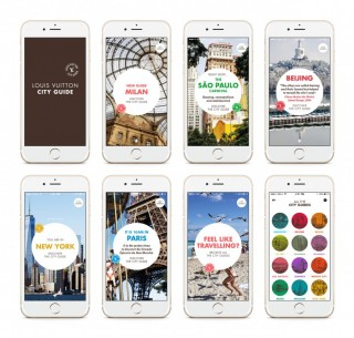 The mobile app features fun guides for travelers in up to 25 cities.