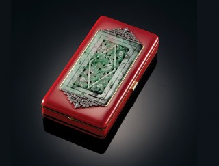 A Van Cleef & Arpels vanity case, part of the Shanghainese Deco exhibition.