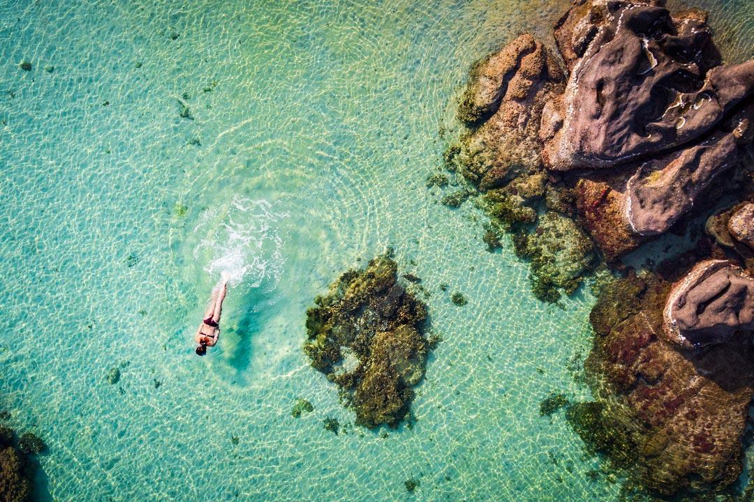 Swimming off La Veranda's private Gam Ghi island.
