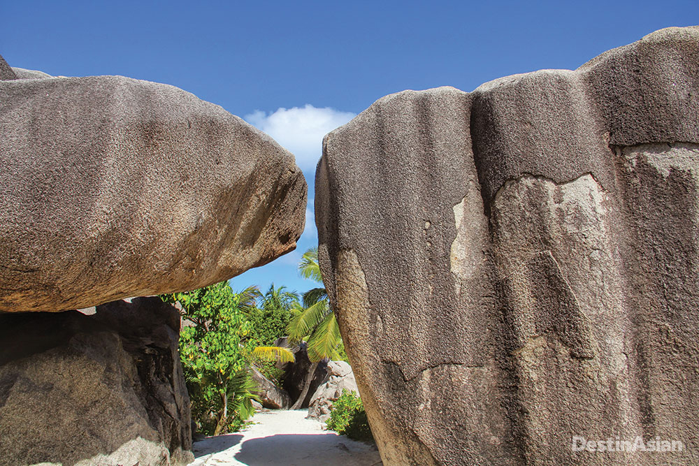 Granite boulders line the shores of Anse Source D'argent.
