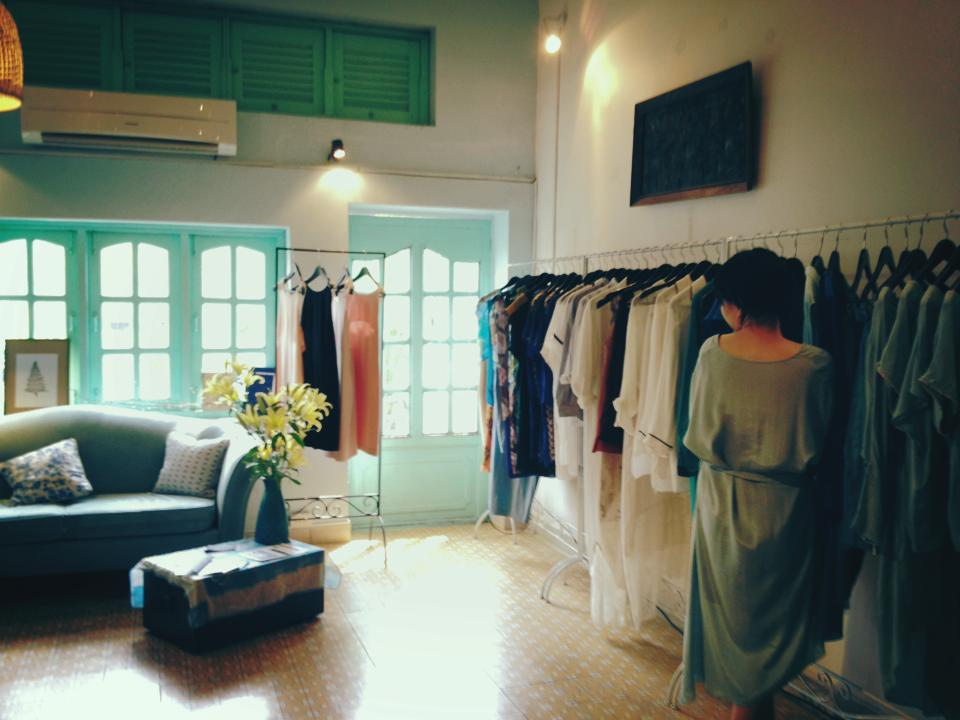 The airy interior of Lam boutique.