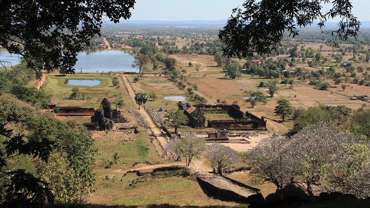 Vat Phou, a temple complex of Angkor-era ruins, is Champasak's most notable historical site.