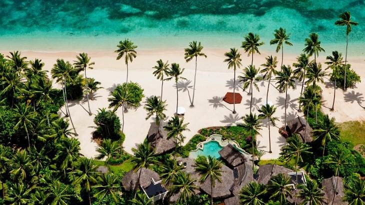 The 12-square-kilometer island is home to 25 private villas.