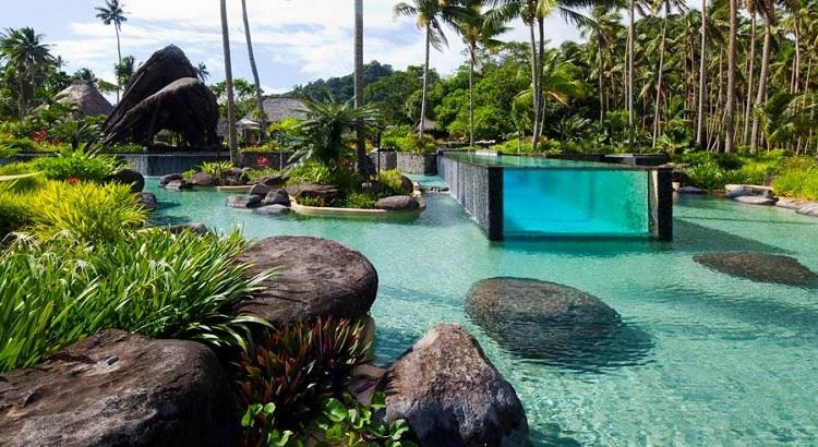 Laucala's iconic swimming pool