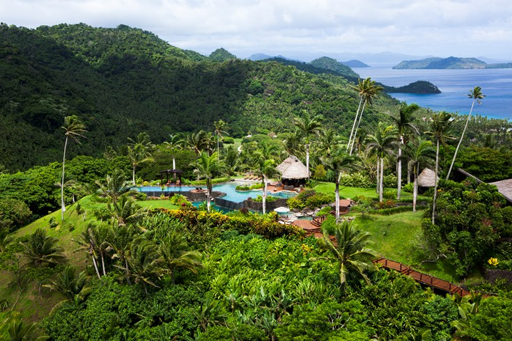 Laucala Island was once owned by Malcom Forbes.