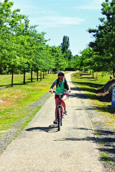 Seeing scenic northwest Victoria by bike.