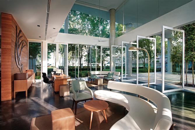 The breezy lobby.