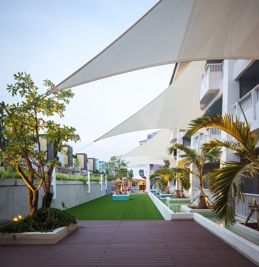 The local landscape features in the resort's design.