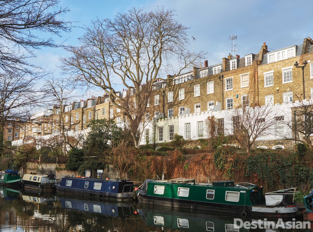 Regent's Canal at Islington's Colebrooke Row.