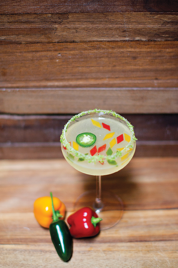 A Four Pepper margarita at The Woods.