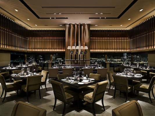 The dining room at the Cafe Gray Deluxe, one of the restaurants featured on the app.