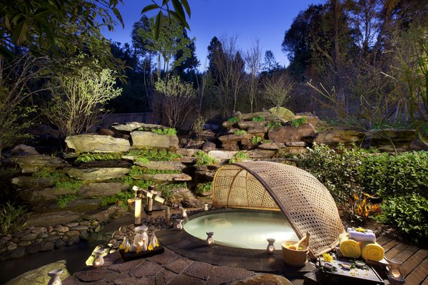 A hot spring pool.